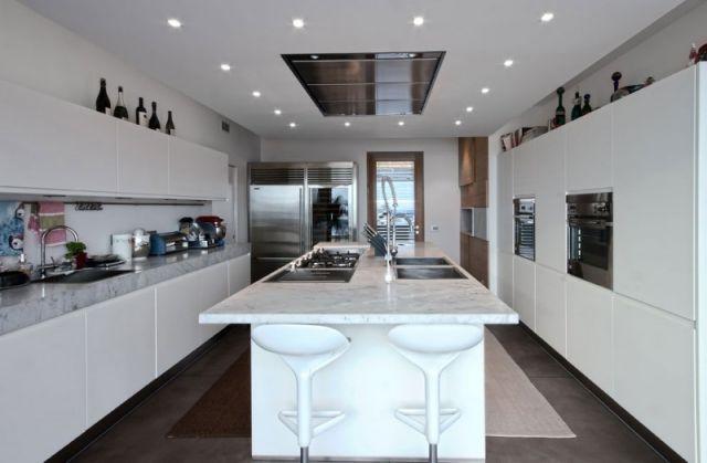 Marmor Kochinsel Gas Kochfelder Wohnideen Küchenmöbel Barstühle