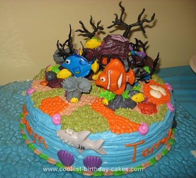 Coolest Under the Sea Ocean Floor Nemo Cake Nemo cake Homemade