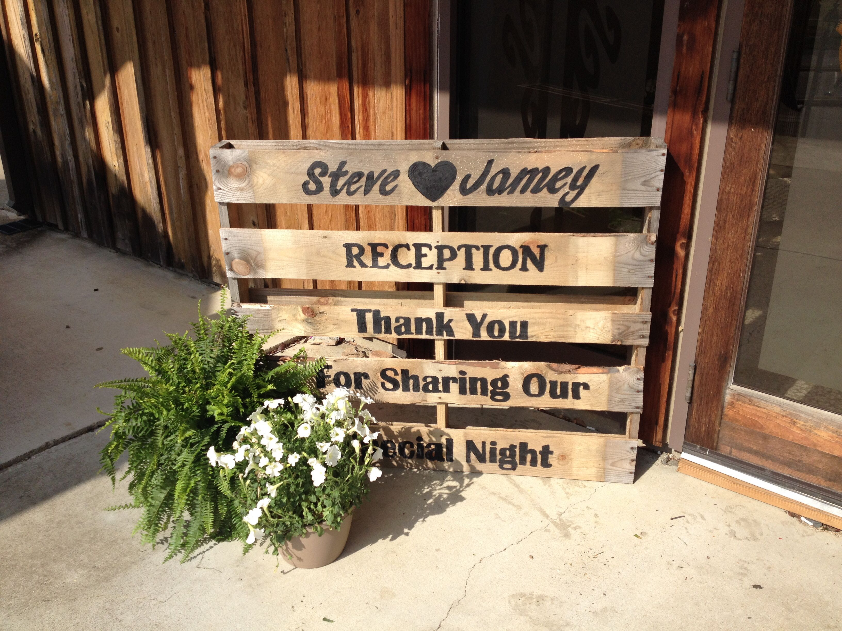 Vow Renewal Ideas Pallet Sign For Wedding Reception