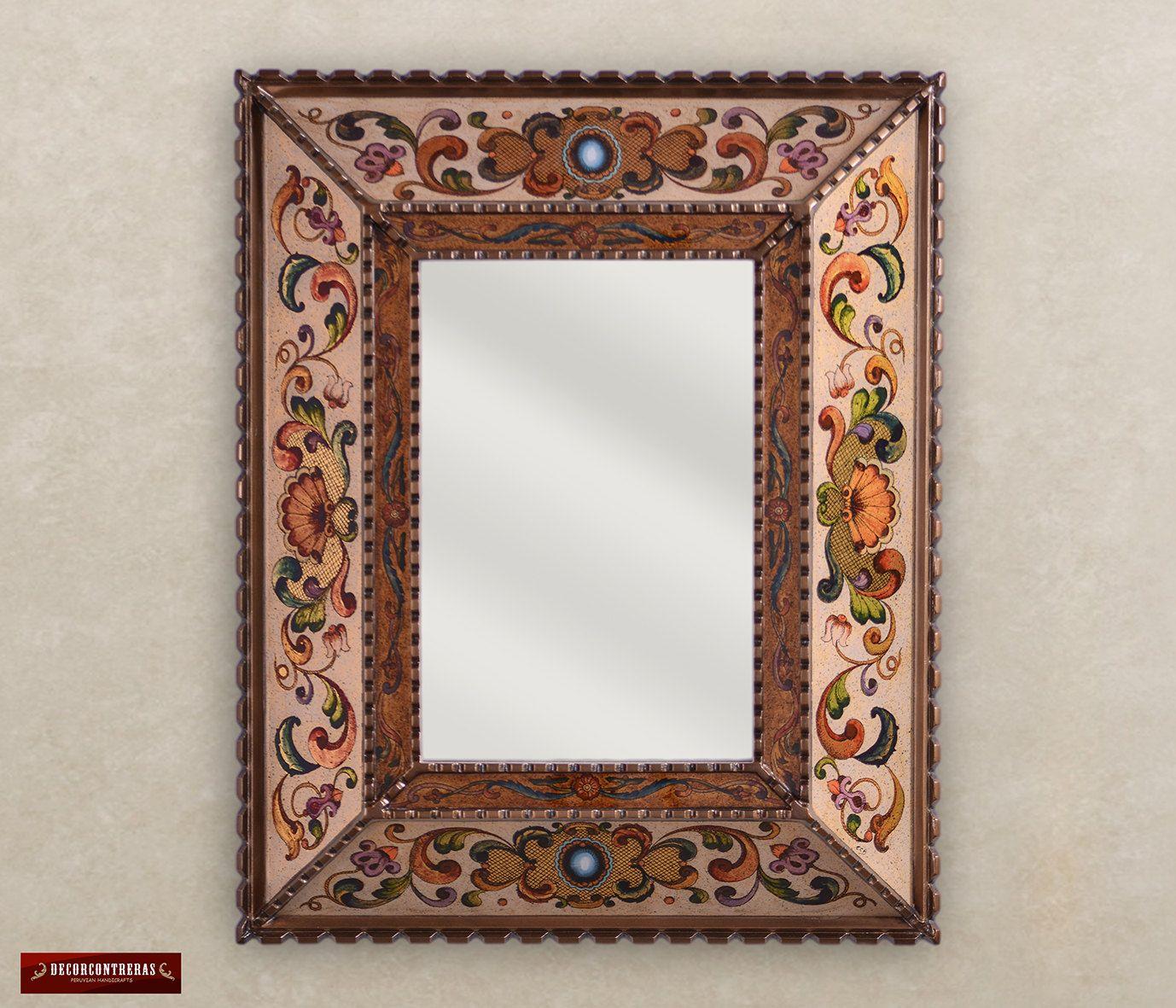 Espejo Decorativo Rectangular estilo colonial - Decoracion espejos ...