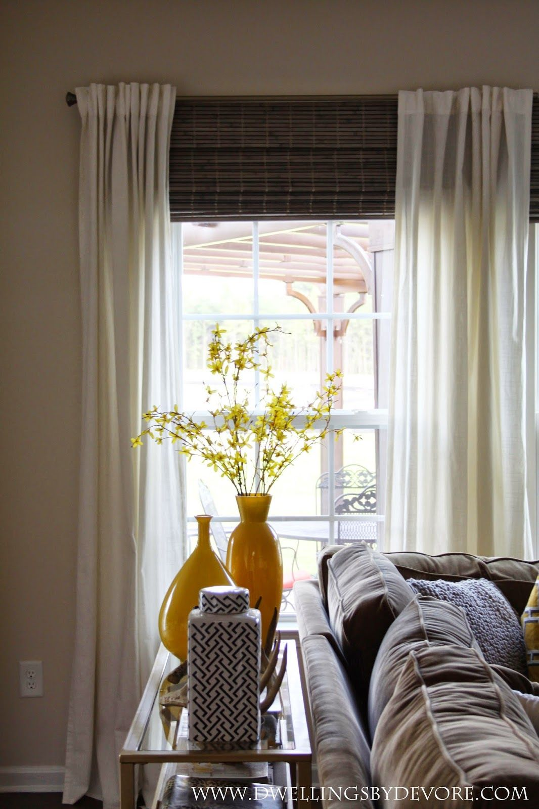 Dwellings By Devore Bamboo Shades To Make Your Windows Look Larger Like At Our Old House