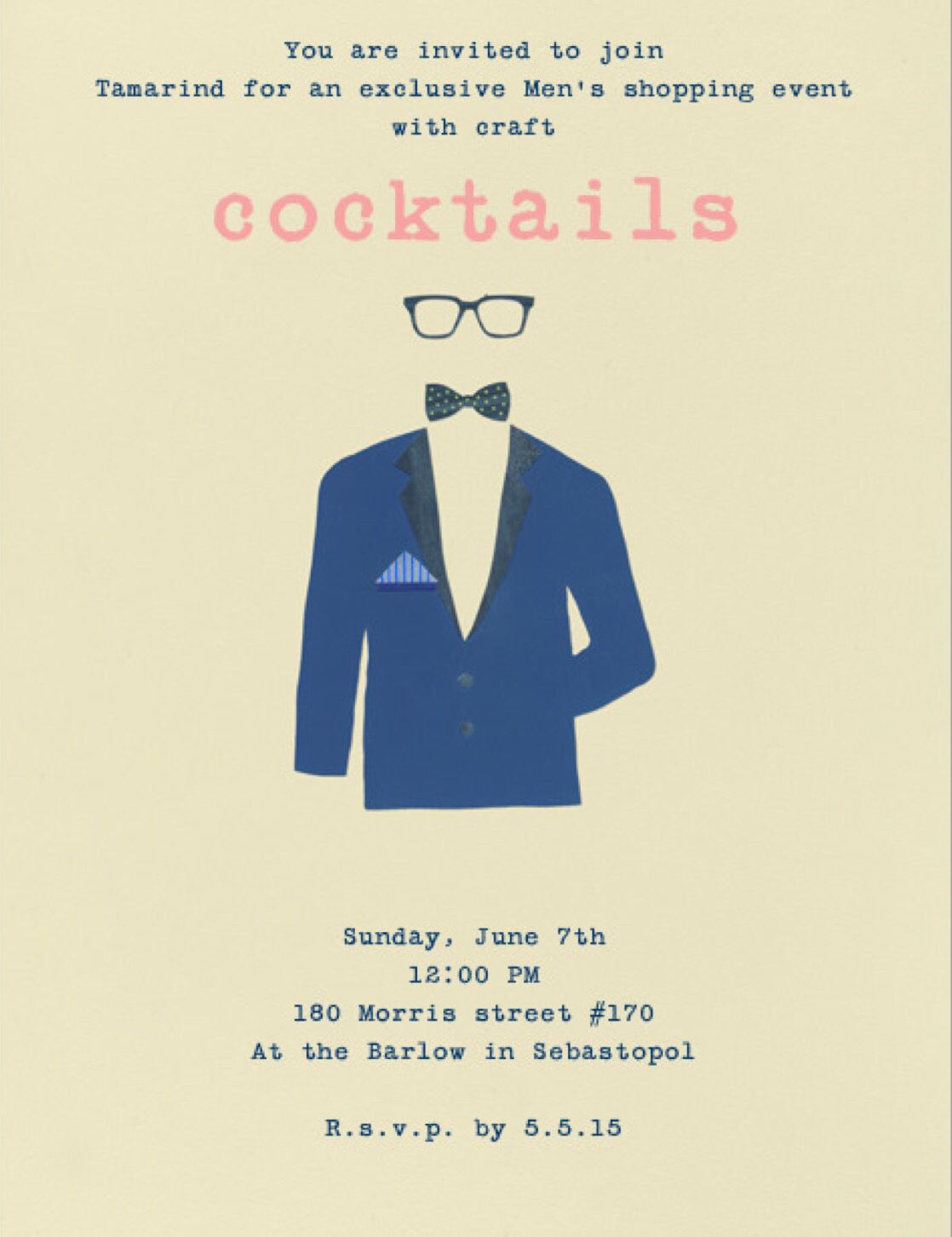 Men's pop up event featuring craft cocktails, Frank and Eileen men's shirting, closed clothing chinos and grown Alchemist foot cream, blinder barber shave kits!!!