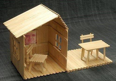Casas con palitos de chupete - Imagui
