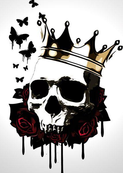 El Rey de la Muerte Art Print