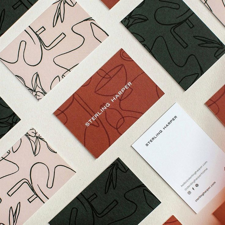 Gorgeous Business Card Design For Sterling Harper