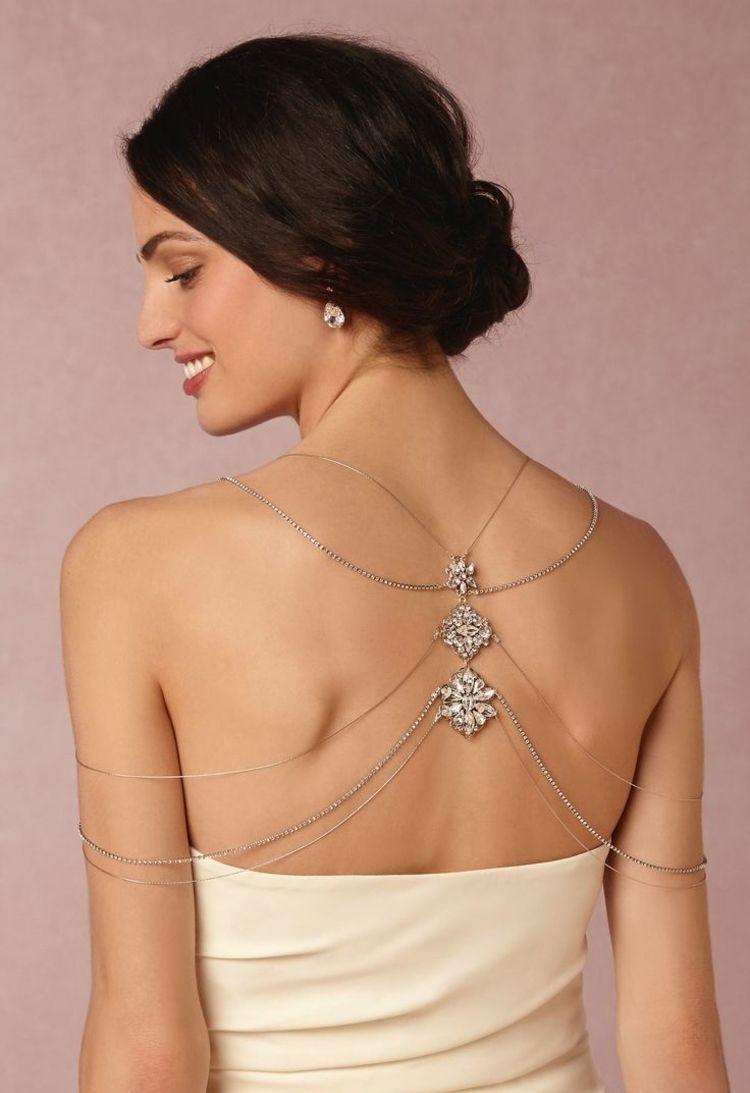 Schmuck Idee für den Rücken der Braut | Hochzeits Fundus | Pinterest ...