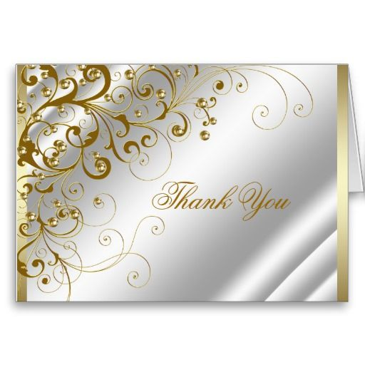 Elegant Ivory And Gold Thank You Zazzle Com Thank You Greeting Cards Graduation Thank You Cards Thank You Cards