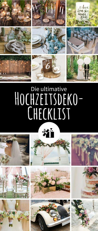Photo of Die ultimative Hochzeitsdeko-Checklist | Gratis Download – H…