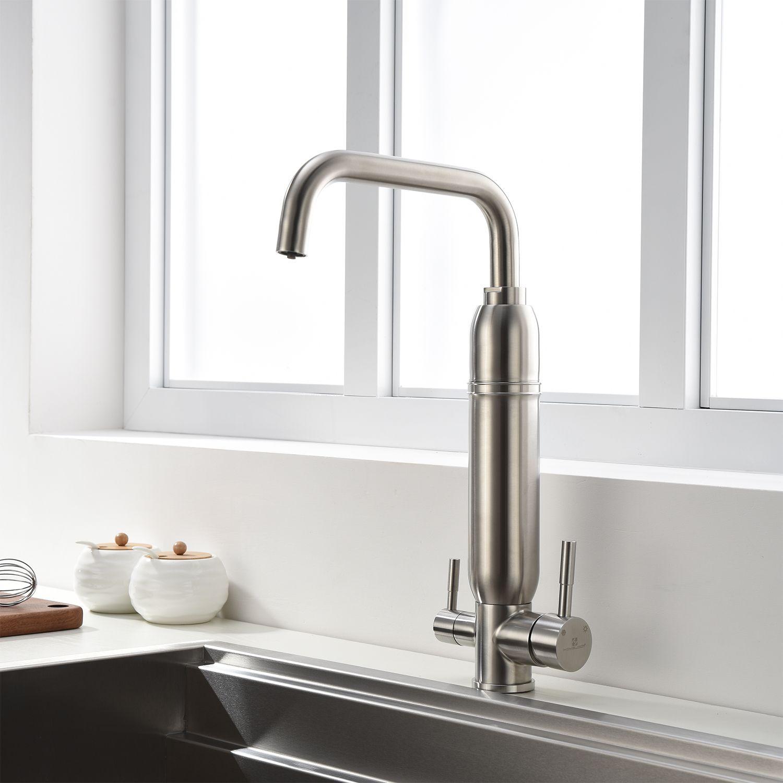 Zwei Griff Filterwasser Wasserhahn Kuche Mit Wasseraufbereitungsventilkern Homelody In 2020 Wasserhahn Kuche Wasserhahn Trinkwasser
