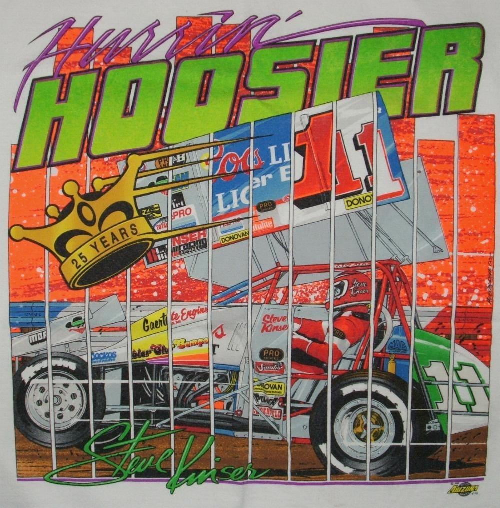 Steve Kinser Hurrin' Hoosier TShirt Vintage TShirts