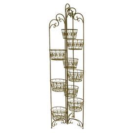 """Showcase your home-grown blooms in rustic style with this essential design, a lovely addition to your front porch or foyer.   Product: Plant standConstruction Material: Iron Color: Black Dimensions: 54.75"""" H x 9"""" W x 9.75"""" D"""