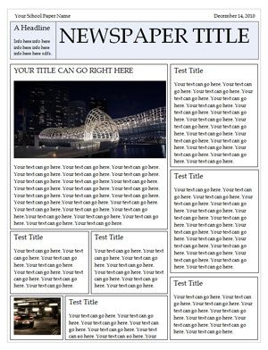 Free Newspaper Templates  Newspaper Template And Microsoft Word