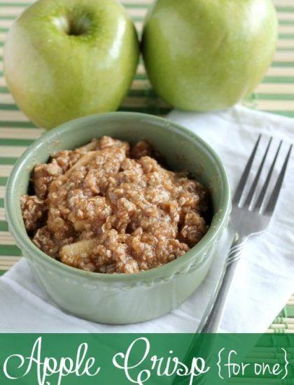 Apple Crisp For One (+ Video) | Dessert Now, Dinner Later!