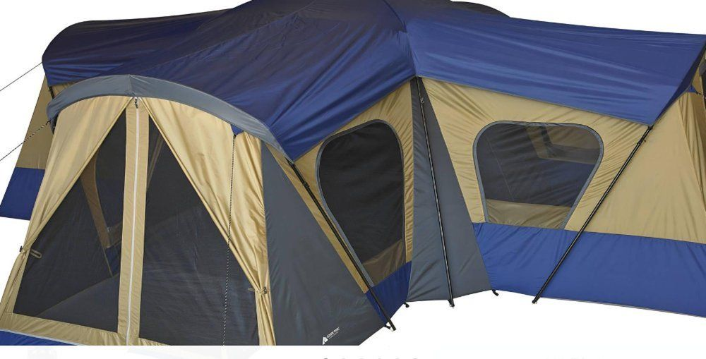 Ozark Trail Base Camp 14 Person Cabin Tent Camping Hiking 4 Room Canopy Shelter