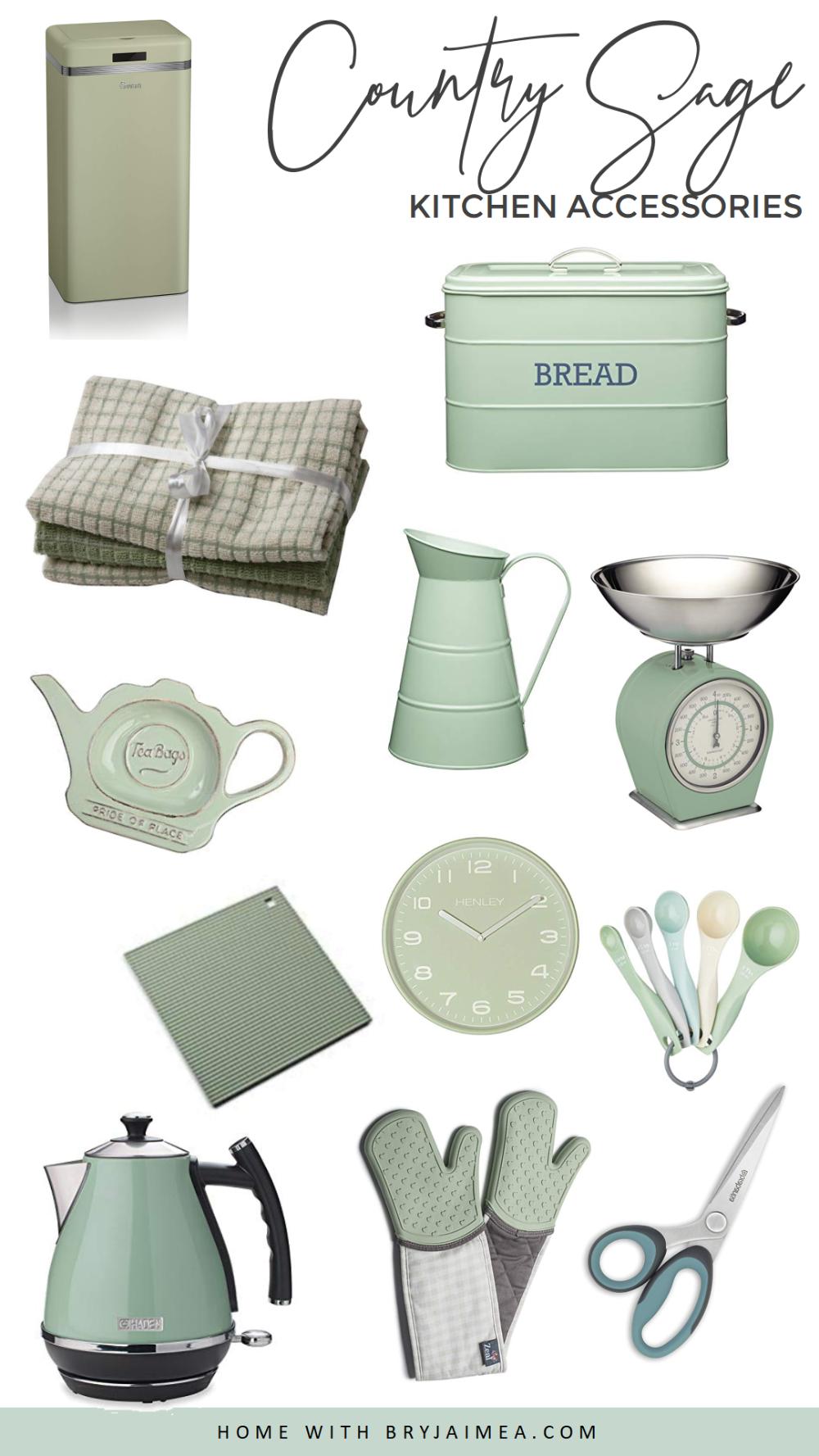 Designerhomeaccessories Retro Kitchen Accessories Sage Green Kitchen Retro Pink Kitchens