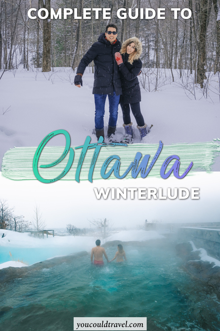 A complete guide to Ottawa Winterlude for couples - We spent a long Valentine's Day weekend in Ottawa, during which we got to do all sort of romantic wintery activities. #ottawa #ottawawinter #winter #winterlude #snowflakekingdom #canada #visitcanada
