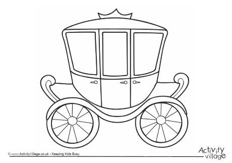 Carriage Colouring Page 2 Royal Wedding Colors Princess