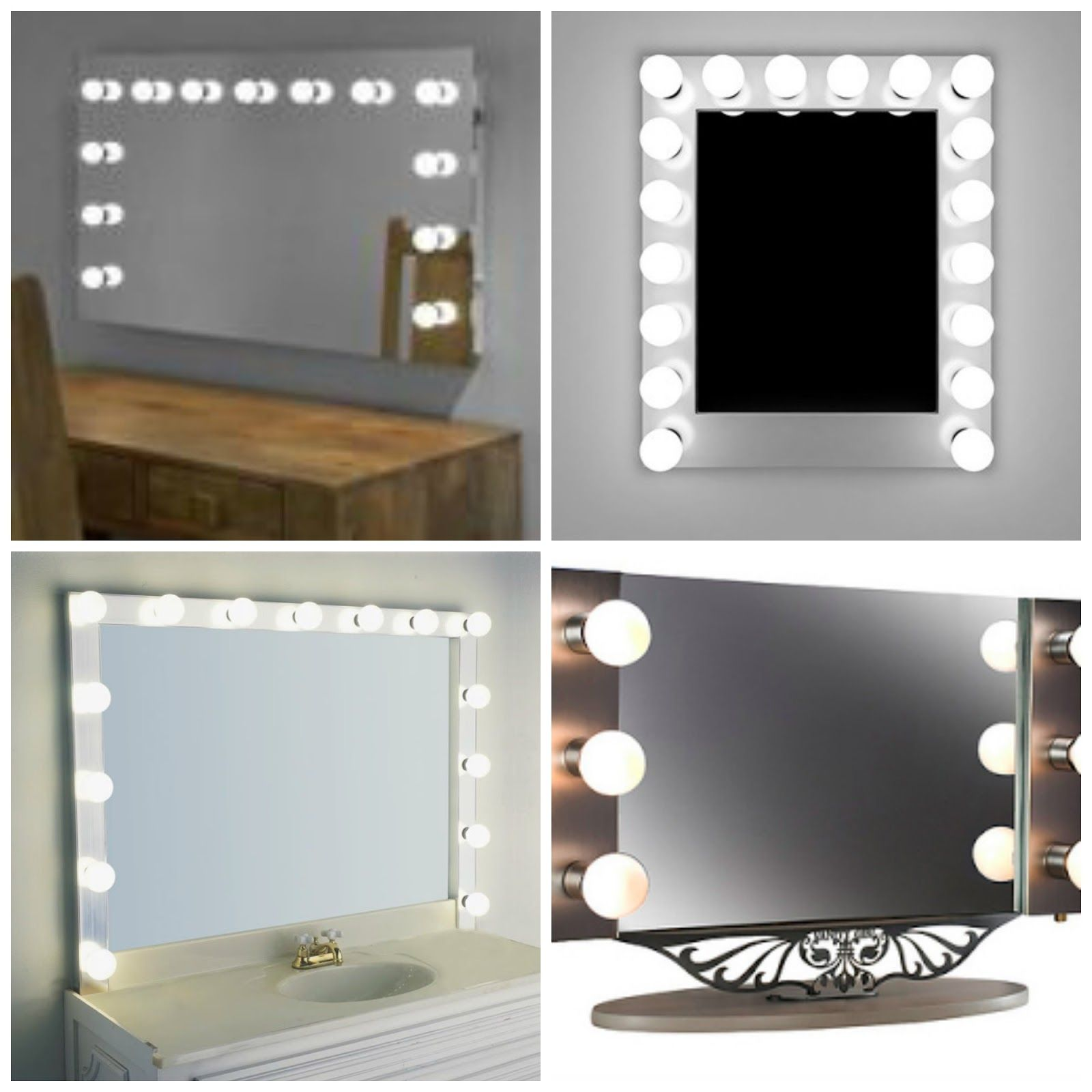 illuminated triple dressing table mirror bedroom design