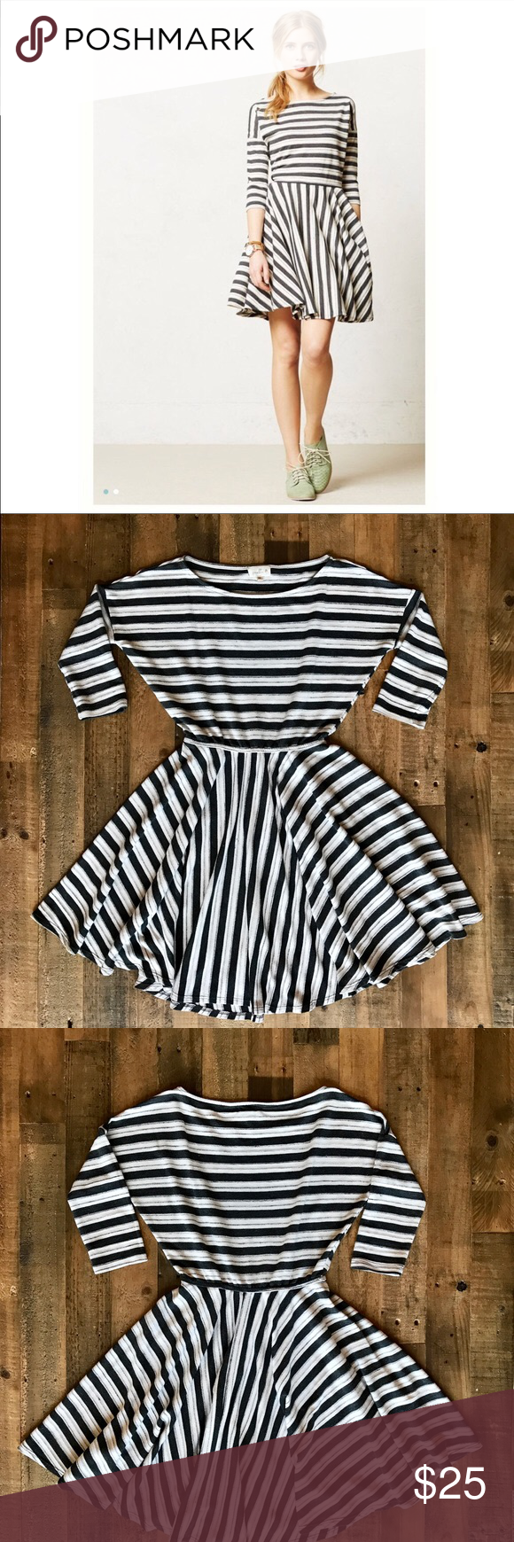 d19df3903f254 Anthropologie Striped Puella Midday Dress Size XS Weekends call for cozy,  throw-on-