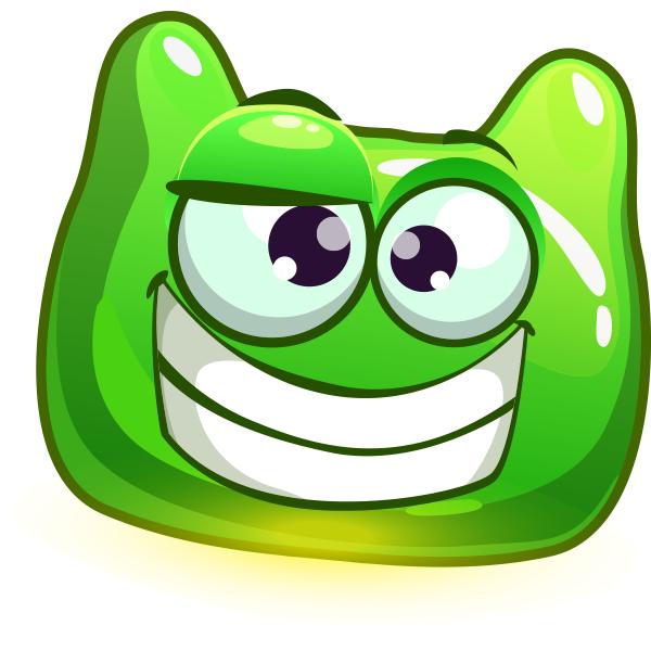 Weird Green Smiley Cat emoji, Smiley, Emoji