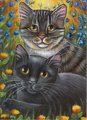 Electronics Cars Fashion Collectibles Coupons And More Ebay Cat Painting Black Cat Art Cat Artwork