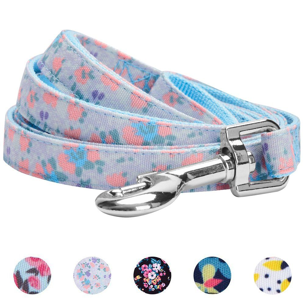Blueberry Pet Durable Spring Scent Inspired Floral Dog Leash Matching Collar And Harness Available Separately Do Hope Yo Spring Scents Dog Leash Dog Collar