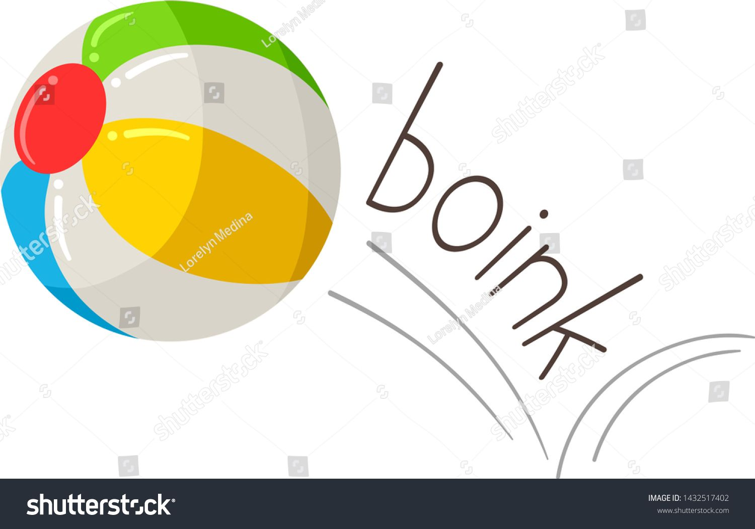 Illustration Of Boink And A Bouncing Ball Learning