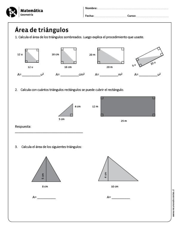 Area De Triangulos Matematicas Angulos Matematicas Actividades De Geometria