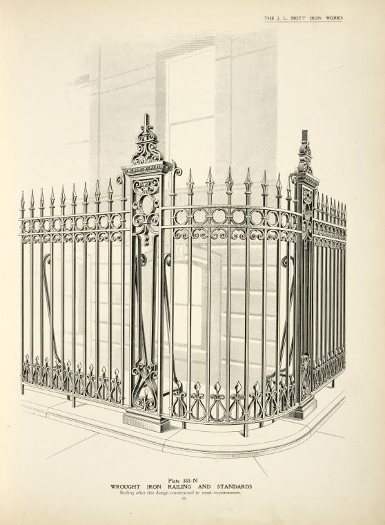 Wrought Iron Railing And Standards With Images Wrought Iron