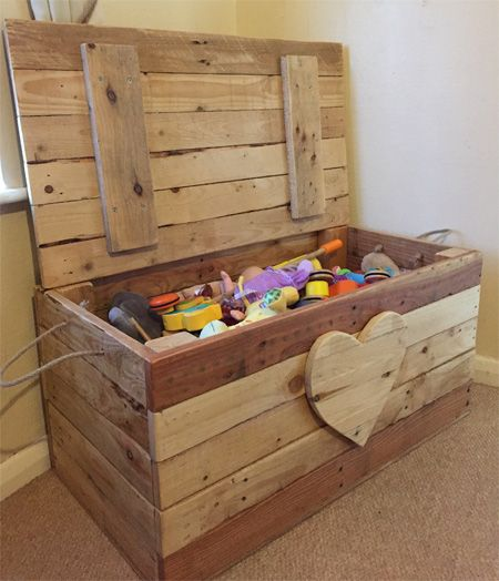 Home Dzine Home Diy Toy Box Made From Pallet Wood Diy On Home