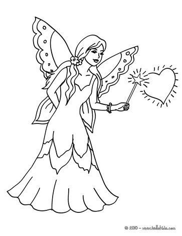 Fairy Magic Wand Coloring Page Fairy Coloring Pages Fairy