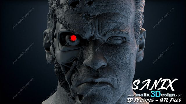 TERMINATOR ( Bust ) - STL Files for 3D Printing | _Hobbies | 3d