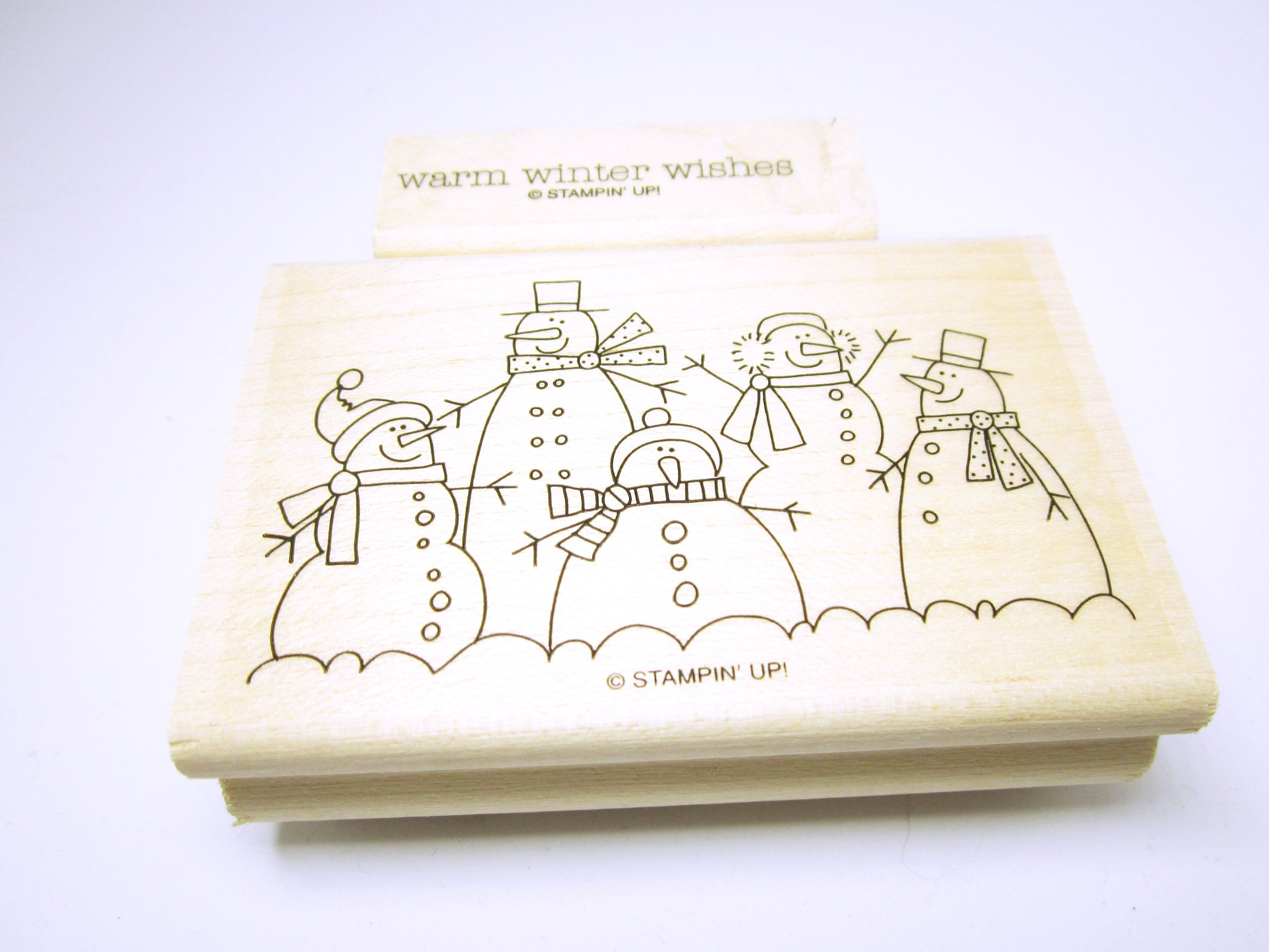 Stamps Rubber Stamps Cardmaking Snowmen And Word Quote #Warm Winter ...