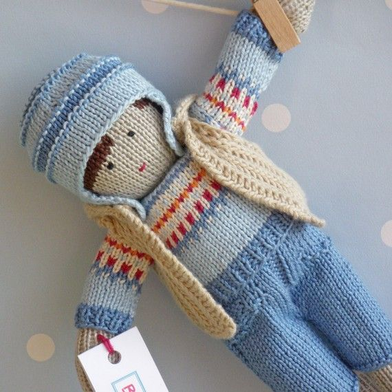 Louis++Hand+Knitted+Doll+by+BooBiloo+on+Etsy | Hand knit ...