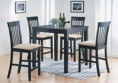 Acme Piece Miranda Counter H Dining Set By ACME - 36 inch dining table and chairs