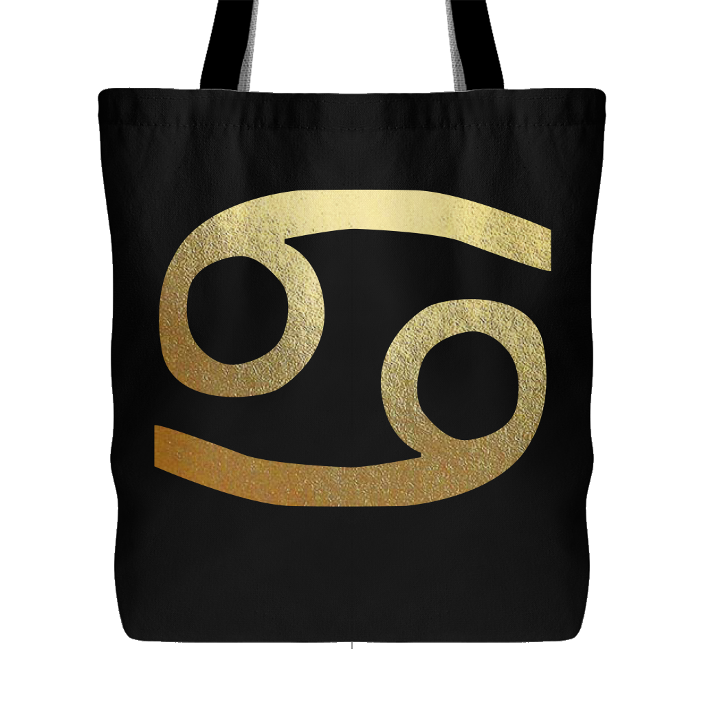 Cancer Gold Sign Tote
