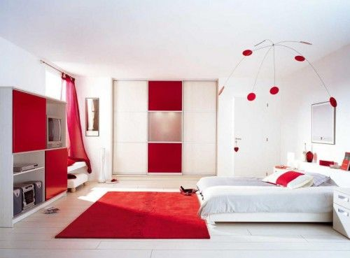 Pin by Tiiff on (hOme) ⊡ Pinterest Bed room, Room ideas and Room - deco salon rouge et blanc