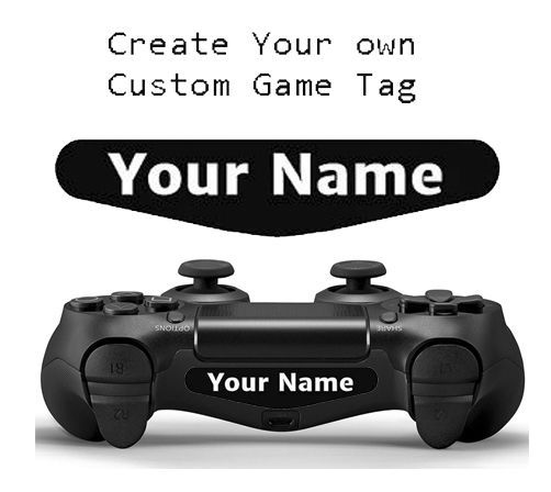 Ps4 controller custom text gamer tag name led light bar decal playstation 4 ps4 controller custom gamer tag name led light bar decal sticker other aloadofball Images