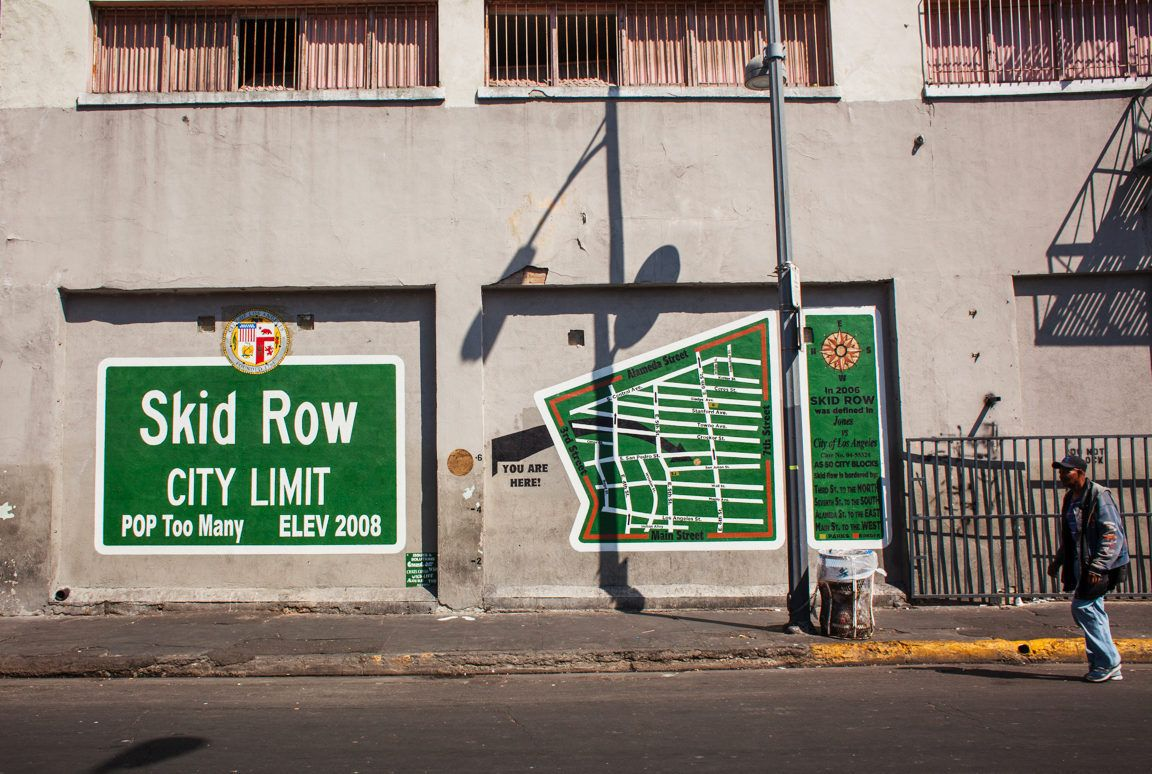 Handsome New Mural Maps Skid Row Skid Row The Row Mural