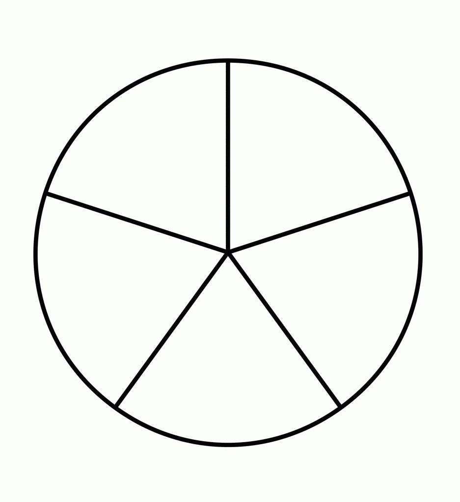 medium resolution of 5 Piece Pie Chart Template 2018   Printables And Menu for 5 Piece Pie Chart  Template 201820159   Pie chart template