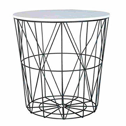 Clayre Eef 6Y2205 Tisch Beistelltisch Tischplatte Weiss Ca