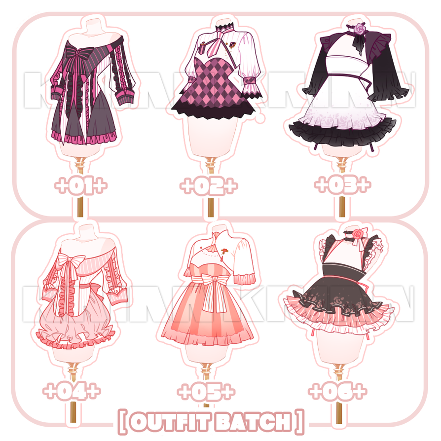 [SET PRICECLOSE]OUTFIT BATCH! by krianart in 2020 (With
