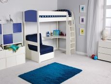 High Sleeper With Desk Futon Bunk