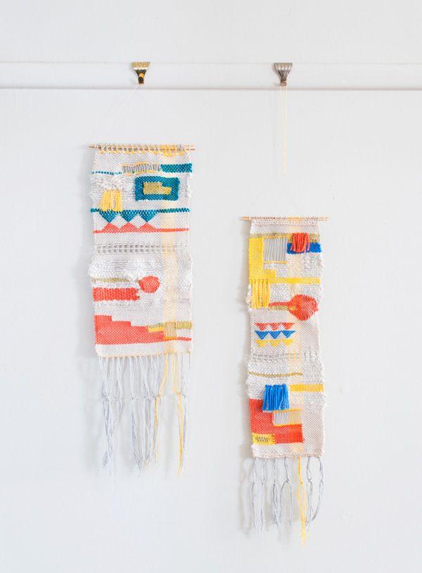 Woven tapestries byMaryanne Moodie