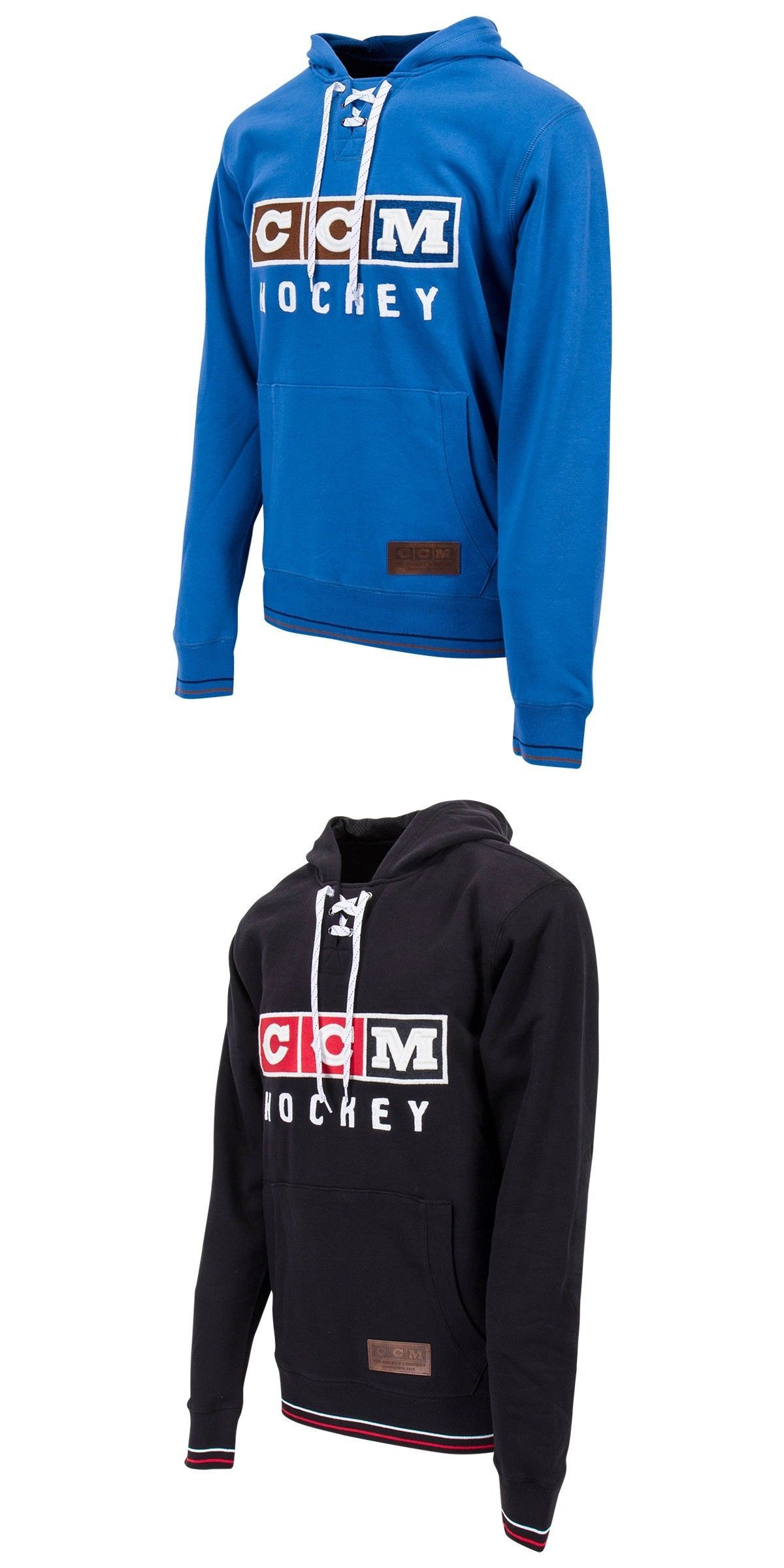 Clothing 159121  Ccm Hockey Classic Lace Neck Adult Senior Hoody Sweatshirt--  Blue And Black S-Xl -  BUY IT NOW ONLY   40 on  eBay  clothing  hockey ... 5f7d682a3