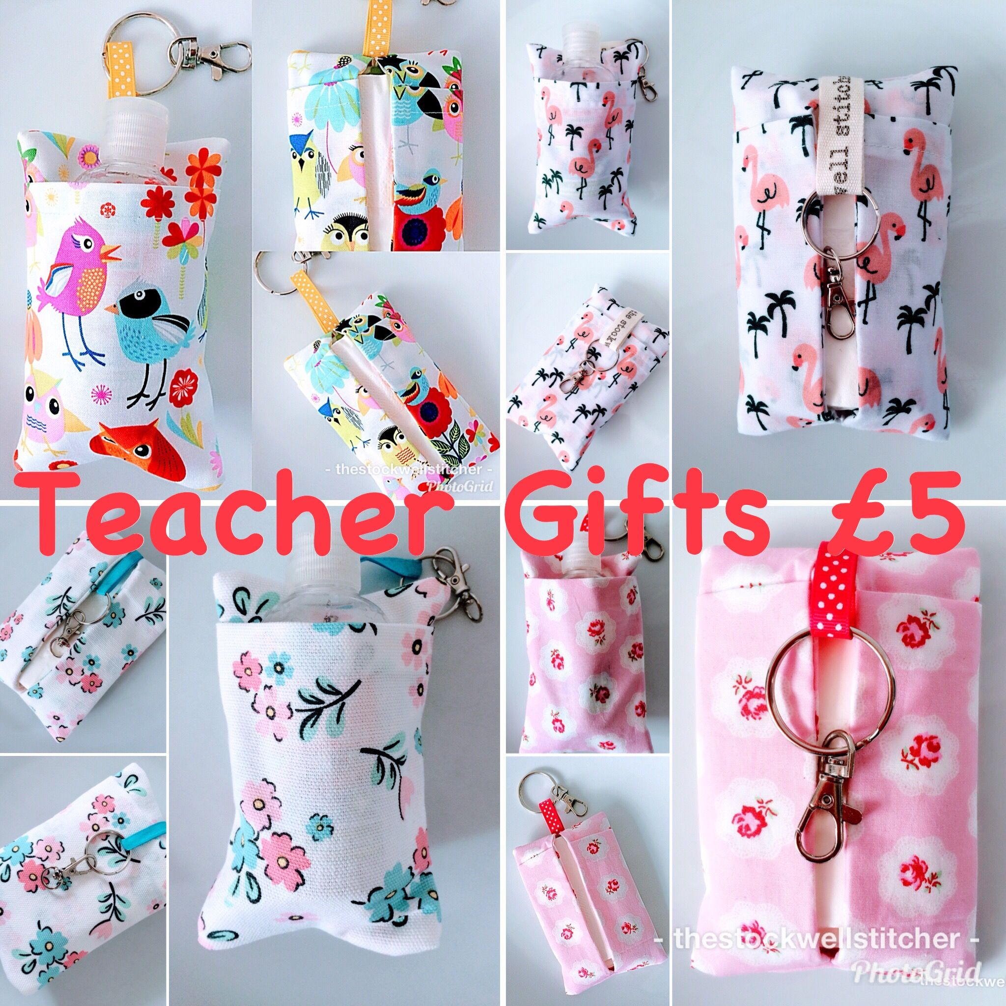 Teacher Gifts Double Sided Keyring Tissue Pouches Fit Pocket