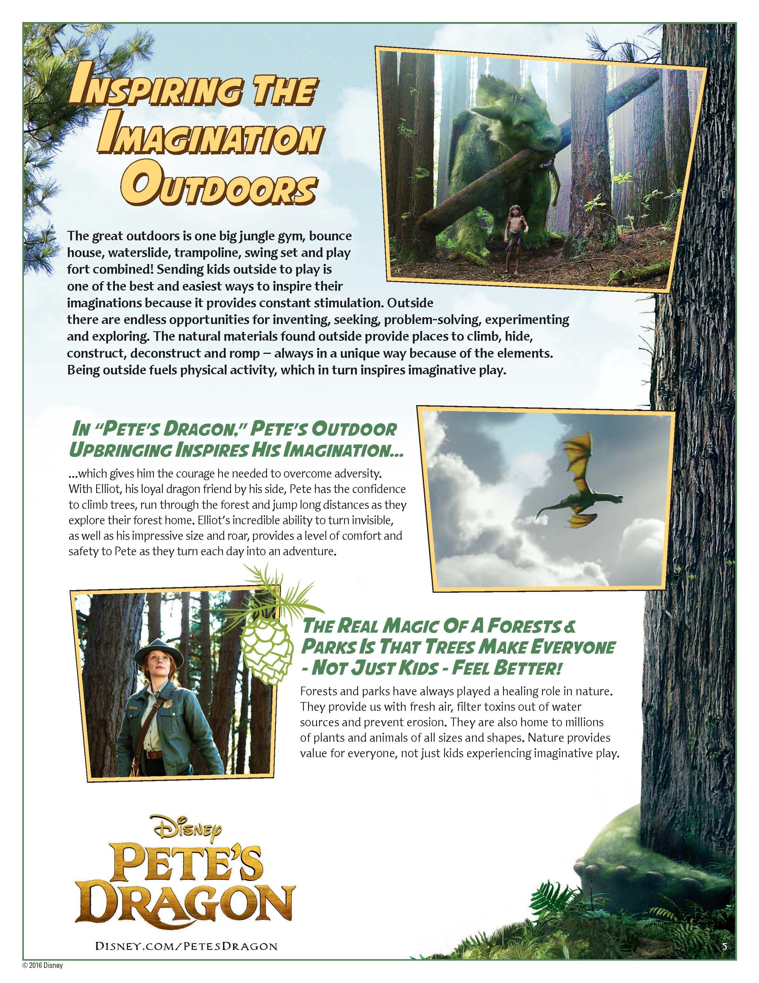 Go on an adventure with the peteus dragon activity pack