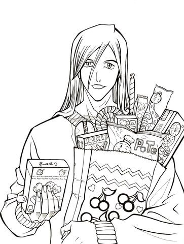 Ukitake Taichou Who Want Some Candy From Manga Bleach Coloring Page Free Printable Coloring Pages Coloring Pages Bleach Anime Free Printable Coloring Pages
