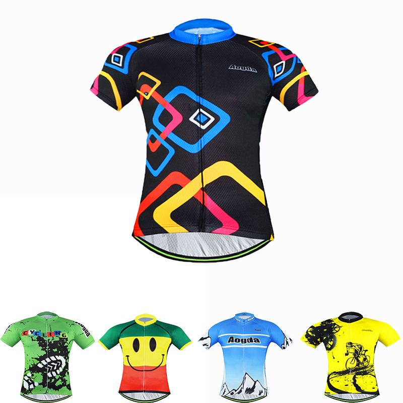 AOGDA Women Men Cycling Team Jersey Short Sleeve Cycling Jerseys Tops Bike  Bicycle Clothes T-Shirts New Arrival S-3XL 0708d00a1