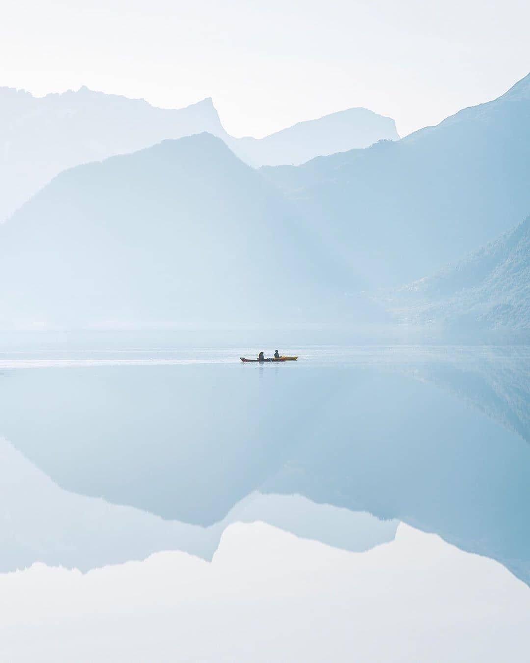 """""""Paddling on a mirror"""", peaceful photo by @KuhrMarvin at ..."""